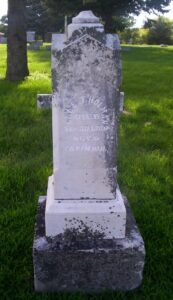 Pic of Headstone for Charles Holman
