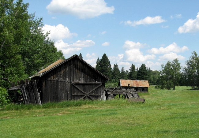 Pic of The blacksmith shop with the chicken coop in the background in 2008