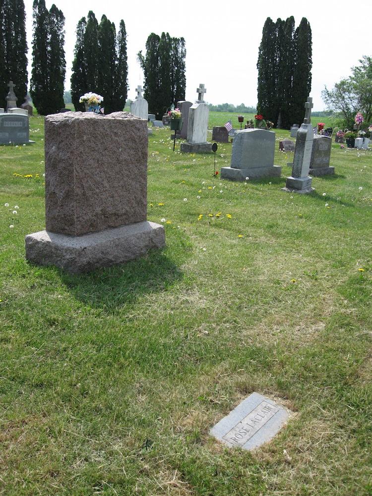 Rose Leclair's Grave
